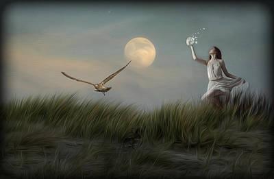Moon Child Art Print by Hazel Billingsley