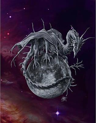 Digital Art - Moon Dragon by Rob Carlos