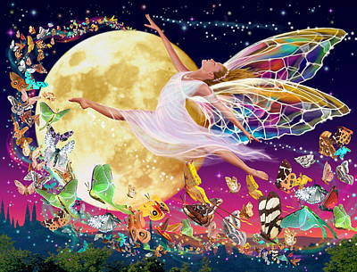Fantasy Photograph - Moon Fairy Variant 1 by Garry Walton