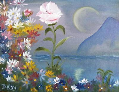 Painting - Moon Flower by The GYPSY