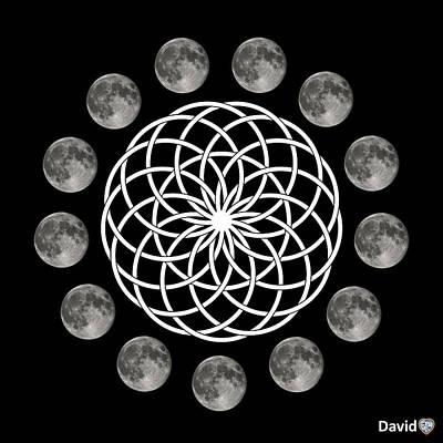 Digital Art - Moon Flower by David Diamondheart