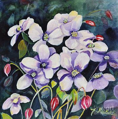 Painting - Moon Flowers by Jane Ricker