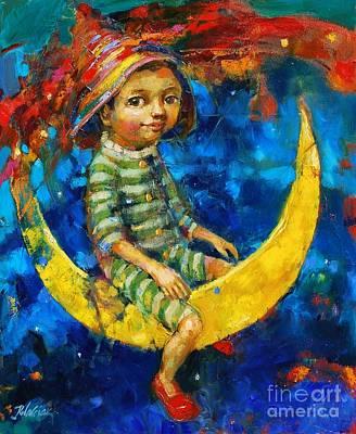 Moon Fun Art Print by Michal Kwarciak