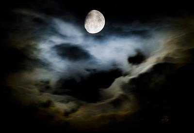 Photograph - Moon Glow by Steven Poulton