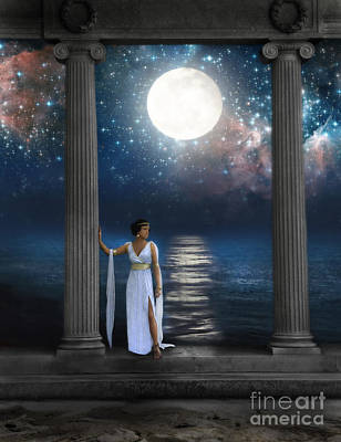 Moonlit Night Photograph - Moon Goddess by Jill Battaglia