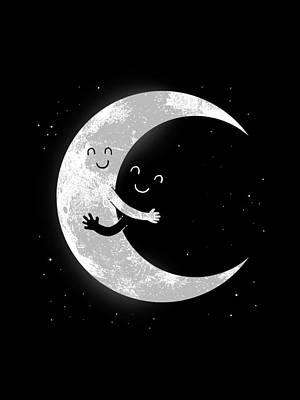 Digital Art - Moon Hug by Carbine