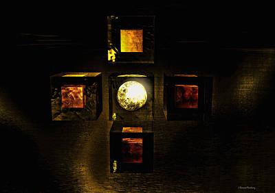 Cross Digital Art Digital Art - Moon In Cross by Ramon Martinez