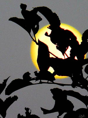 Photograph - Moon In Silhouette by Expressionistart studio Priscilla Batzell