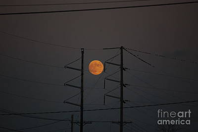 Photograph - Moon In The City by Mark McReynolds