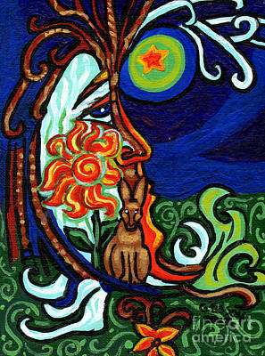 Eco-art Painting - Moon In Tree by Genevieve Esson