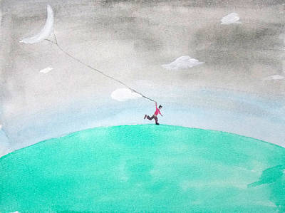 Painting - Moon Is My Kite by Keshava Shukla