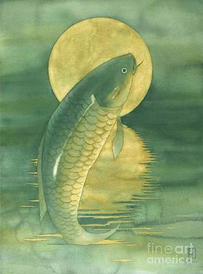 Fish Painting - Moon Koi by Robert Hooper