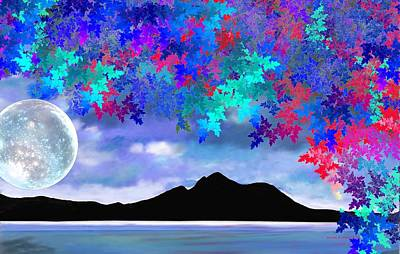 Digital Art - Moon Lake by Naomi Richmond