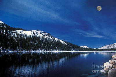Photograph - Moon - Lake by Paul W Faust -  Impressions of Light