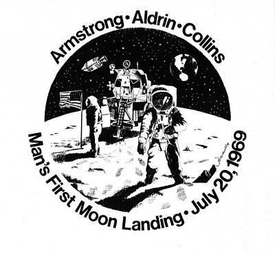 Moon Landing Art Print by J W Kelly