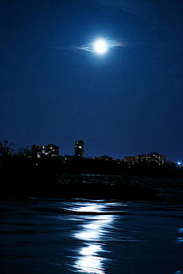 Moon Light Print by Andre Faubert