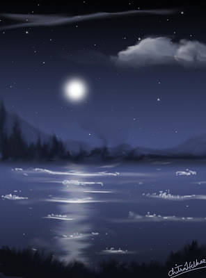 Digital Art - Moon Light by Chitra Helkar