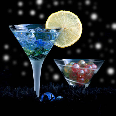 Moon Light Cocktail Lemon Flavour With Stars 1 Art Print