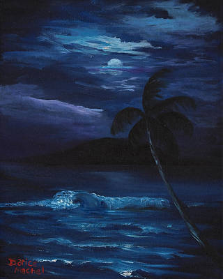 Moon Light Tropics Art Print
