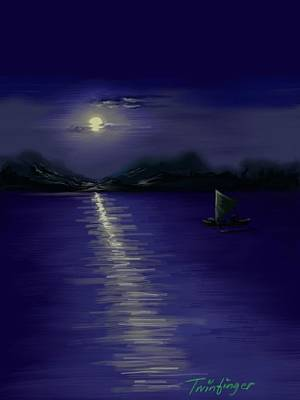 Painting - Moon Light by Twinfinger
