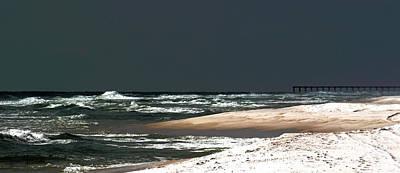 Moon Lit Beach Art Print