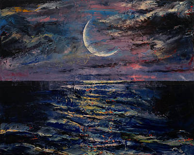 Moon Art Print by Michael Creese