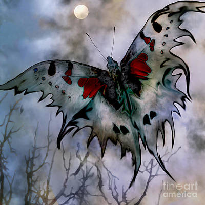 Digital Art - Moon Moth by Ursula Freer