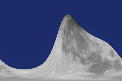 Digital Art - Moon Mountain by Ernie Echols