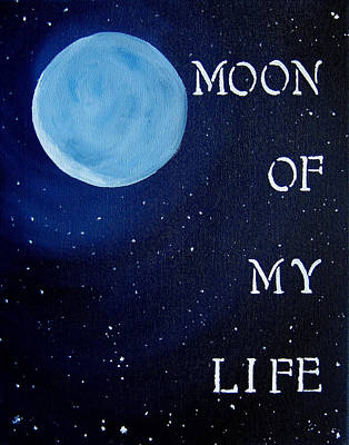 Fire And Ice Painting - Moon Of My Life 11x14 by Michelle Eshleman