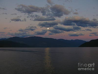 Photograph - Moon On The Lake by Leone Lund