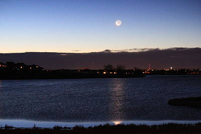 Photograph - Moon On The Water by Trent Mallett