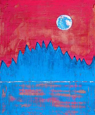Painting - Moon Organs Original Painting by Sol Luckman