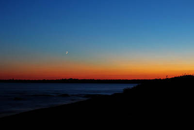 Moon Over Aquidneck Island Art Print