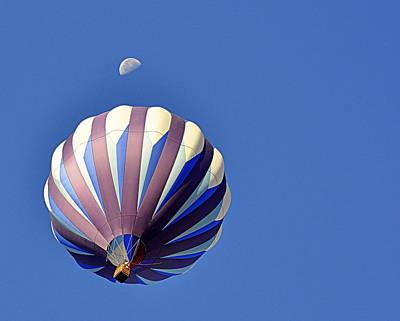 Photograph - Moon Over Balloon by AJ  Schibig