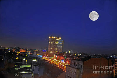 Photograph - Moon Over Brussels by Elvis Vaughn