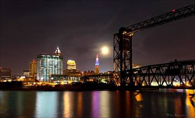 Photograph - Moon Over Cleveland by Daniel Behm