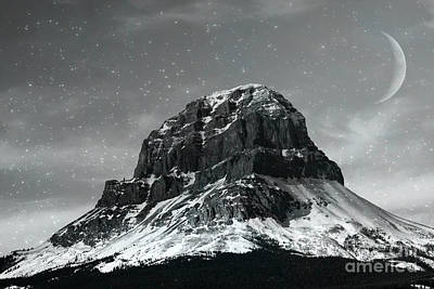 Photograph - Moon Over Crowsnest by Alyce Taylor