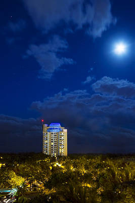 Moon Over Ft. Lauderdale Art Print