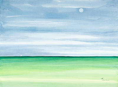 Moonscape Painting - Moon Over Islamorada by Michelle Wiarda-Constantine