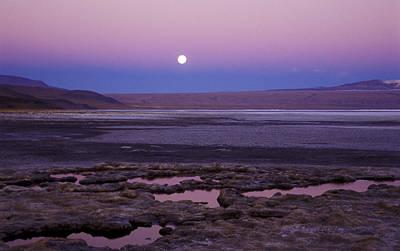 Art Print featuring the photograph Moon Over Laguna Colorada by Lana Enderle