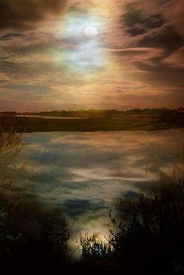 Photograph - Moon Over Marsh - 35mm Film by Gary Heller