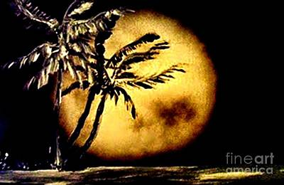 Bedroom Painting - Moon Over Mi Ami Original Painting By James Daugherty by James Daugherty