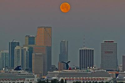 Photograph - Moon Over Miami by Art by Dance
