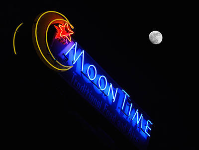 Moon Over Moon Time Art Print