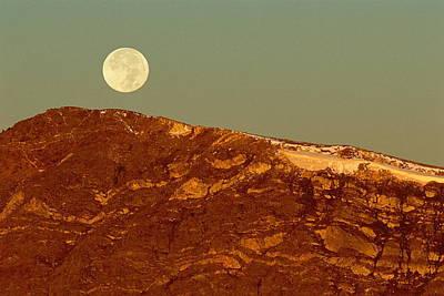 Moon Over Mount Ida Art Print
