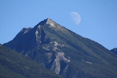 Photograph - Moon Over Mountain by Cathie Douglas