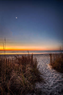 Moon Over Myrtle Beach Art Print by Joshua Minso