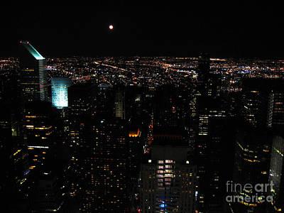 Photograph - Moon Over New York City by RicardMN Photography
