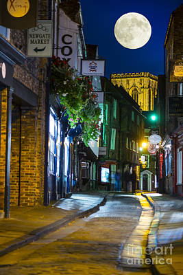 Photograph - Moon Over Old City Of The York by Lilianna Sokolowska