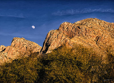 Mark Myhaver Royalty Free Images - Moon Over Pusch Ridge No.02 Royalty-Free Image by Mark Myhaver